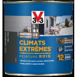 Peinture bois extérieur Climats extrêmes® V33, anthracite satiné 0.5 l de marque V33, référence: B5985400
