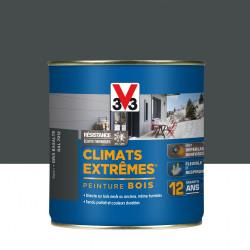 Peinture bois extérieur Climats extrêmes® V33, gris basalte satiné 0.5 l de marque V33, référence: B5986900