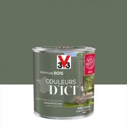 Peinture bois extérieur Couleurs d'ici® V33, kaki grisé velours 0.5 l de marque V33, référence: B5990100