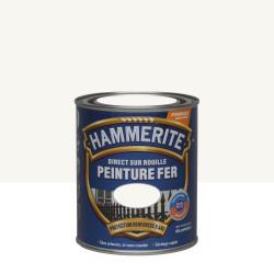 Peinture fer extérieur Direct sur rouille HAMMERITE blanc brillant 0.75 l de marque HAMMERITE, référence: B5999600