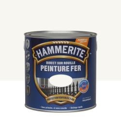 Peinture fer extérieur Direct sur rouille HAMMERITE blanc brillant 2.5 l de marque HAMMERITE, référence: B5999700