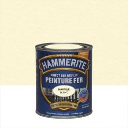 Peinture fer extérieur Direct sur rouille HAMMERITE blanc martelé 0.75 l de marque HAMMERITE, référence: B6000000
