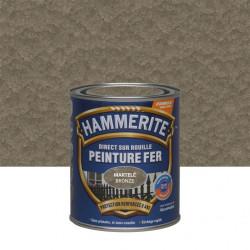 Peinture fer extérieur Direct sur rouille HAMMERITE bronze martelé 0.75 l de marque HAMMERITE, référence: B6000200