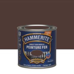 Peinture fer extérieur Direct sur rouille HAMMERITE châtaigne martelé 0.25 l de marque HAMMERITE, référence: B6000300