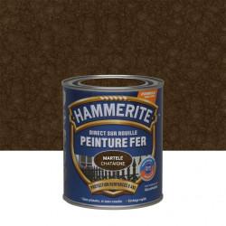 Peinture fer extérieur Direct sur rouille HAMMERITE châtaigne martelé 0.75 l de marque HAMMERITE, référence: B6000400
