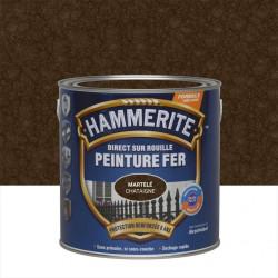 Peinture fer extérieur Direct sur rouille HAMMERITE châtaigne martelé 2.5 l de marque HAMMERITE, référence: B6000500