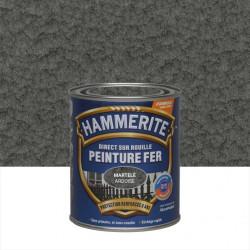 Peinture fer extérieur Direct sur rouille HAMMERITE gris ardoise martelé 0.75 l de marque HAMMERITE, référence: B6000700
