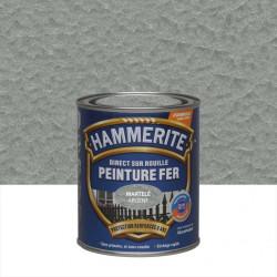 Peinture fer extérieur Direct sur rouille HAMMERITE gris argent martelé 0.75 l de marque HAMMERITE, référence: B6000900
