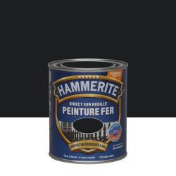 Peinture fer extérieur Direct sur rouille HAMMERITE noir brillant 0.75 l de marque HAMMERITE, référence: B6001000
