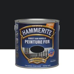 Peinture fer extérieur Direct sur rouille HAMMERITE noir brillant 2.5 l de marque HAMMERITE, référence: B6001100