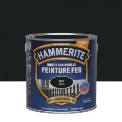 Peinture fer extérieur Direct sur rouille HAMMERITE noir ferronnerie mat 2.5 l de marque HAMMERITE, référence: B6001400