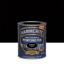 Peinture fer extérieur Direct sur rouille HAMMERITE noir martelé 0.75 l de marque HAMMERITE, référence: B6001600