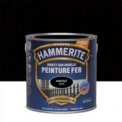 Peinture fer extérieur Direct sur rouille HAMMERITE noir martelé 2.5 l de marque HAMMERITE, référence: B6001700