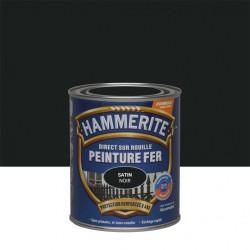 Peinture fer extérieur Direct sur rouille HAMMERITE noir satiné 0.75 l de marque HAMMERITE, référence: B6001800