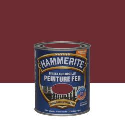 Peinture fer extérieur Direct sur rouille HAMMERITE rouge basque brillant 0.75 l de marque HAMMERITE, référence: B6001900