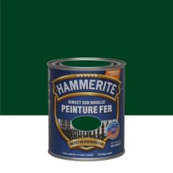 Peinture fer extérieur Direct sur rouille HAMMERITE vert buisson brillant 0.75 l de marque HAMMERITE, référence: B6002000