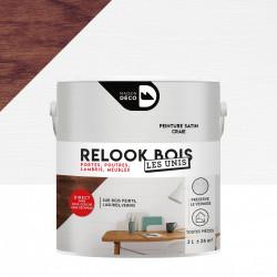 Peinture intérieure Relook bois MAISON DECO, craie satiné, 2 l de marque MAISON DECO, référence: B6003900