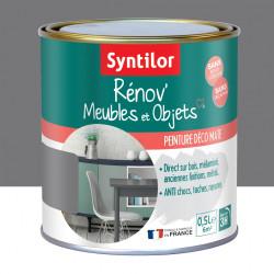 Peinture meuble et boiserie Rénov' SYNTILOR gris urbain mat 0.5 l de marque SYNTILOR, référence: B6011600