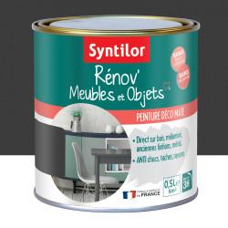 Peinture meuble et boiserie Rénov' SYNTILOR noir mat 0.5 l de marque SYNTILOR, référence: B6012200