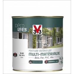 Peinture multimatériau extérieur Décolab® V33 blanc satiné 0.5 l de marque V33, référence: B6014200