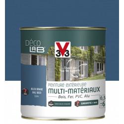 Peinture multimatériau extérieur Décolab® V33 bleu orage satiné 0.5 l de marque V33, référence: B6014500