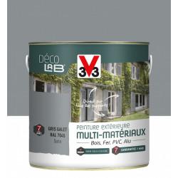 Peinture multimatériau extérieur Décolab® V33 gris galet satiné 2 l de marque V33, référence: B6015600