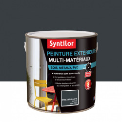 Peinture multimatériau extérieur SYNTILOR gris anthracite satiné 2 l de marque SYNTILOR, référence: B6018000