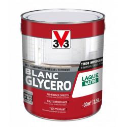 Peinture multisupport V33 Glycéro blanc satiné, 2.5 l de marque V33, référence: B6020900