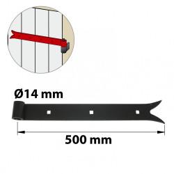 Penture acier prépeint, H.35 x L.500 x P.22 mm de marque AFBAT, référence: B6038900