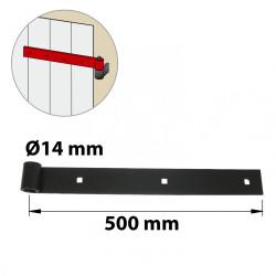 Penture acier prépeint, H.35 x L.500 x P.23 mm de marque AFBAT, référence: B6039000