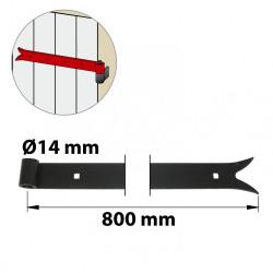 Penture acier prépeint, H.35 x L.800 x P.22 mm de marque AFBAT, référence: B6039300