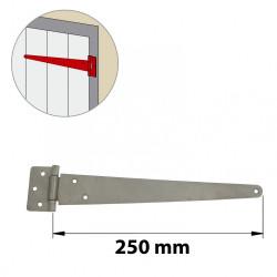 Penture anglaise inox brossé, H.65 x L.290 x P.10 mm de marque AFBAT, référence: B6040000