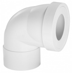 Pipe de WC courte en angle de 90 °C Diam.10 cm WIRQUIN de marque WIRQUIN, référence: B6045200