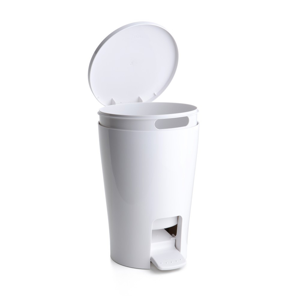 Poubelle de salle de bains 5 l blanc Diabolo