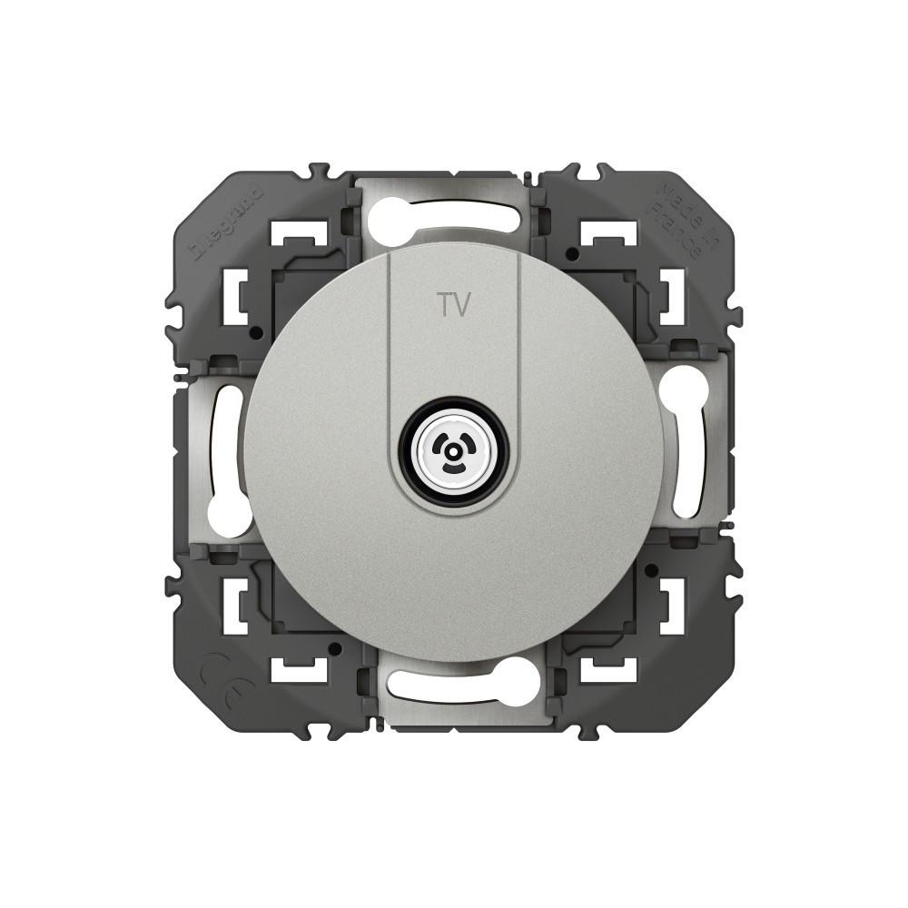 Prise tv Dooxie, LEGRAND, aluminium