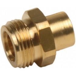 Raccord 1 pièce pour gaz butane / propane à souder, Mâle x Diam.10 mm, GAZINOX de marque GAZINOX, référence: B6065700