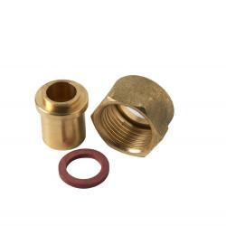 Raccord 2 pièces pour gaz butane / propane à souder, Mâle x Diam.12 mm, GAZINOX de marque GAZINOX, référence: B6066000