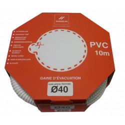Raccord souple en PVC spiralé Diam.40 mm WIRQUIN de marque WIRQUIN, référence: B6067500