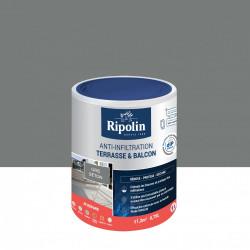 Revêtement d'étanchéité sol extérieur, RIPOLIN Terrasse et balcon gris 0,75 L de marque RIPOLIN, référence: B6080800