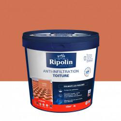 Revêtement d'étanchéité toiture, RIPOLIN Anti-infiltration terre cuite 4 L de marque RIPOLIN, référence: B6081400