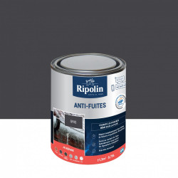Revêtement d'étanchéité, RIPOLIN Anti-fuites toiture&goutière gris 0,75 L de marque RIPOLIN, référence: B6081700