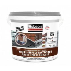 Revêtement liquide Stop fuite toiture plate et inclinée, RUBSON gris 1 kg de marque RUBSON, référence: B6082000