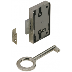 Serrure de meuble acier en applique HETTICH 20 mm réversible de marque HETTICH, référence: B6098800