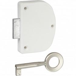Serrure de meuble acier en applique HETTICH 20 mm réversible de marque HETTICH, référence: B6098900