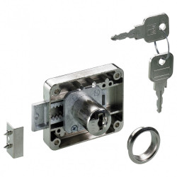 Serrure de meuble acier en applique HETTICH 40 mm réversible de marque HETTICH, référence: B6099500