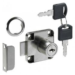 Serrure de meuble acier en applique HETTICH AXE 25 mm réversible de marque HETTICH, référence: B6099700