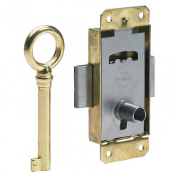 Serrure de meuble fer en applique HETTICH 15 mm réversible de marque HETTICH, référence: B6099900