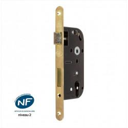 Serrure encastrée BRICARD certifiée NF, pour cylindre, axe 50 mm de marque BRICARD, référence: B6102900