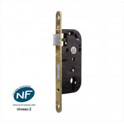 Serrure encastrée BRICARD, certifiée NF, pour cylindre, axe 40 mm de marque BRICARD, référence: B6103500