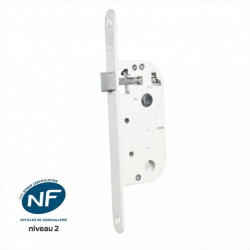 Serrure encastrée BRICARD, certifiée NF,pour porte de salon/cuisine, axe 40 mm de marque BRICARD, référence: B6103600